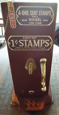 Vintage sanitary one cent stamps machine by Schermack Products Co. Detroit, MI.
