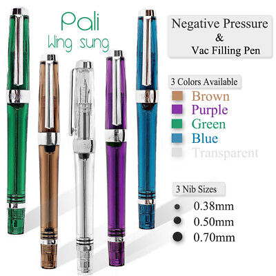 Wingsung 3013/Paili 013 Vaccum Filling Fountain Pen EFFM Nib Ink Writing Gift