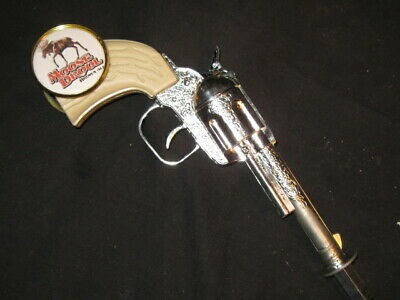 beer tap handle old western six shooter moose drool