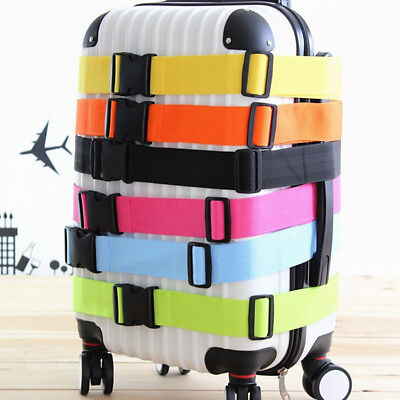 Useful Travel Luggage Suitcase Strap Baggage Backpack Safe Belt Reinforcement E&