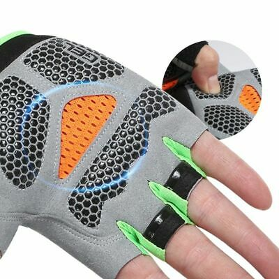 Half Finger Outdoor Sports Gloves Riding Men Women Fitness Mittens Breathable