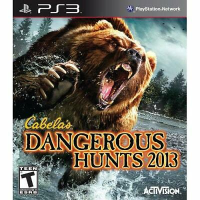 Cabela's Dangerous Hunts 2013 For PlayStation 3 PS3 Shooter Very Good 1E