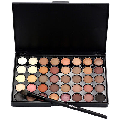 40 Colors Nude Eyeshadow Plate Mineral Matte Pigment Eye Shadow Waterproof US J4