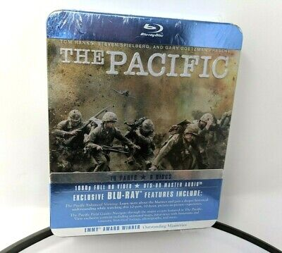 HBO The Pacific Blu-Ray The Complete Series Miniseries Tin Box Case 6 Discs New