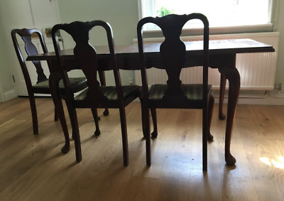 Antique Dining Room Table and 3 Chairs