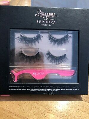 e4e421276a4 Sephora Collection Lilly Lashes 3 Piece Kit Miami & Mink Luxe New In Box As  Pict