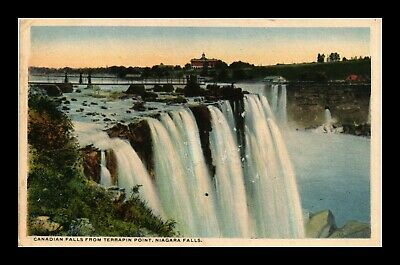 Dr Jim Stamps Us Canadian Falls Terrapin Point Niagara Falls View Postcard