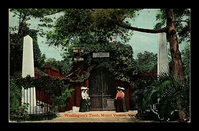 Dr Jim Stamps Us Mount Vernon Virginia Washingtons Tomb View Postcard