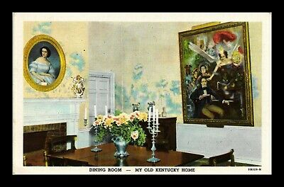 Dr Jim Stamps Us Dining Room My Old Kentucky Home Linen View Postcard