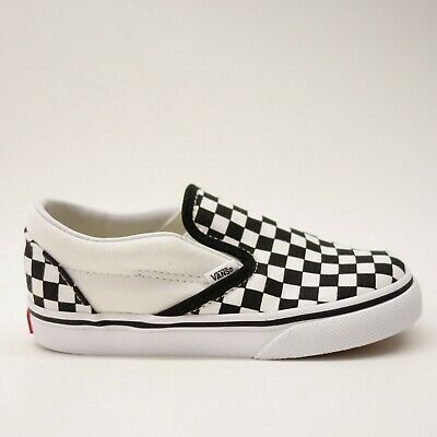cf051cddbc38 Vans Toddler Kids US 10 EU 26.5 Checkerboard Classic Slip On Canvas Skater  Shoes