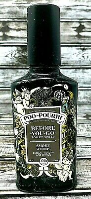 Poo Pourri Before-You-Go Toilet Spray Smoky Woods 8 Oz / 236mL New Free Shipping
