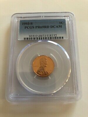 1993-S Lincoln Memorial Penny PCGS Certified PR69RD DCAM Red Deep Cameo Cent 1c