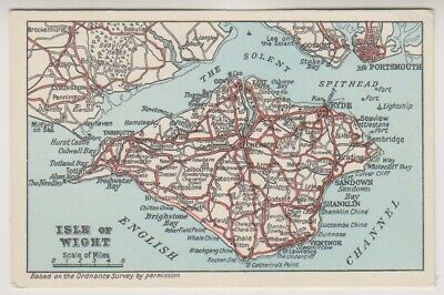 Isle of Wight postcard - Map of the IOW (A398)