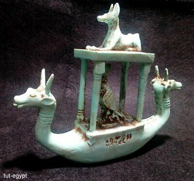 Rare Ancient Egyptian Antiquities Funerary Goddesses Boat.. (3100 BC)