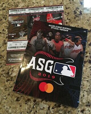 MLB All-Star Game 2019 Cleveland Futures Derby Full Ticket Strip & Program Lot