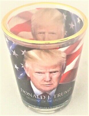 New! Donald Trump Shot Glass from Trump Tower in New York American Flag