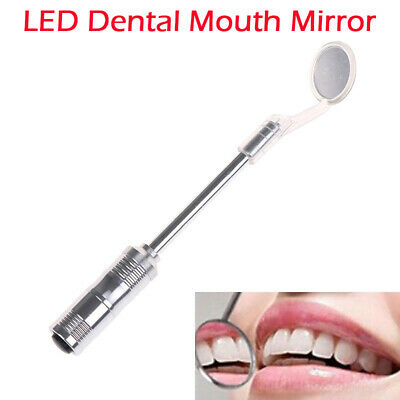 Professional Dental Mouth Mirror With LED Light Bright Mirror Dentist Use Oral