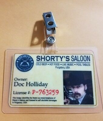 Wynonna Earp ID Badge-Doc Holiday cosplay prop costume