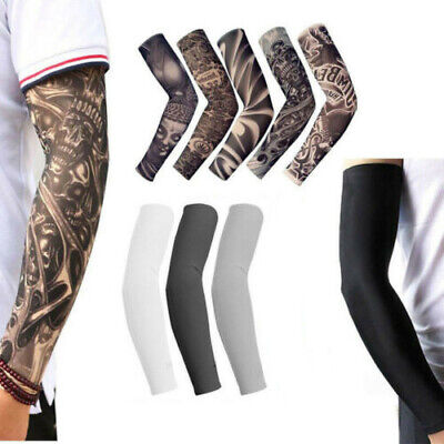 Tattoo Cooling Arm Sleeves Cover Basketball Golf Sport UV Sun Protection US