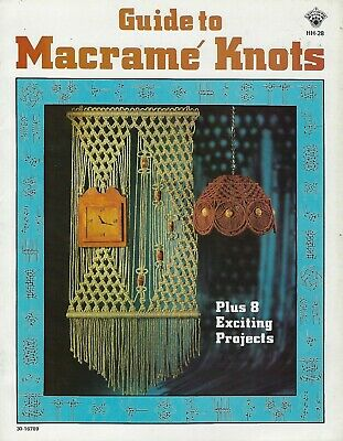 Guide to Macrame Knots HH28 Beginner Instructions Patterns How to Book Vintage