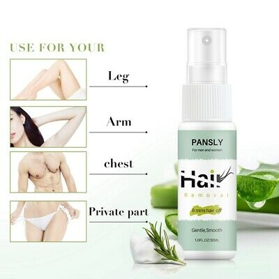 Spray & Wipe Hair Removal Spray Away Natural Painless Remover Body Care New