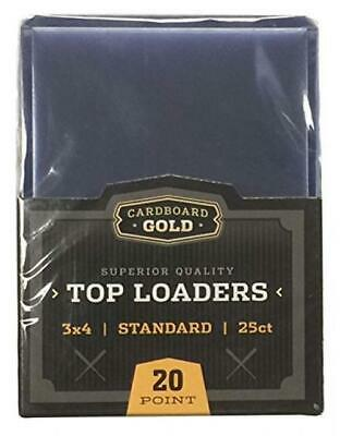"""Cardboard Gold CBG-TL Pro Toploaders Keeps Cards Ultra Protected, 4"""" L, 25..."""