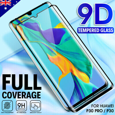 For Huawei P30 Mate 20 30 Pro Full Coverage Tempered Glass Screen Protector Film