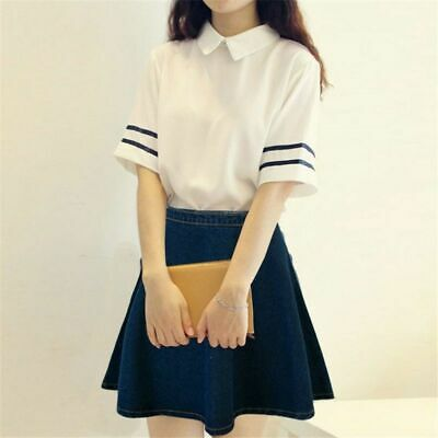 Uniform Top And Skirt Japanese School Girls Chorus Uniforms Outfit Fashion Trend