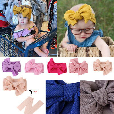 Baby Girl Headband Ribbon Elastic Headdress Kids Hair Band Newborn Bow HOT
