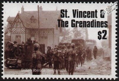 WWII D-Day: 3rd British Infantry Division Liberate HERMANVILLE-SUR-MER Stamp