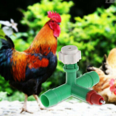 Chicken Feeding Tubes Water Drinker Cup Poultry Dispenser 10 Pcs Durable Hot