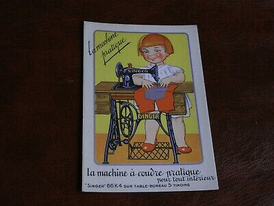 Original Advertising Children Postcard - Singer Sewing Machines.