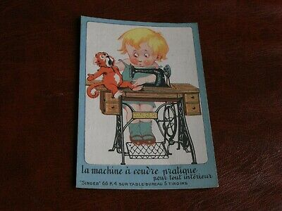 Original Advertising Children Postcard - Singer Sewing Machines - Monkey.