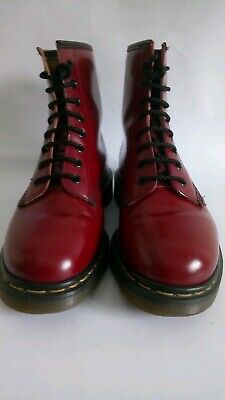 Dr Martens Cherry Red Boots. Made In England. Size 6. Great Condition.