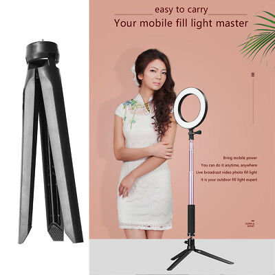 """5-In-1 5W 8"""" Dimmable 5500K LED Ring Light Kit for Makeup Phone Camera Selfie"""
