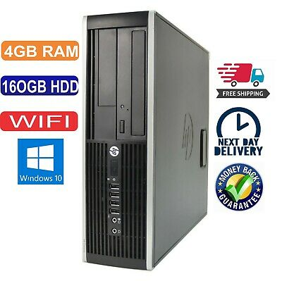 Hp Pc Desktop Computer Cheap Intel Dual Core 4Gb Ram 160Gb Hdd Windows 10 Wifi