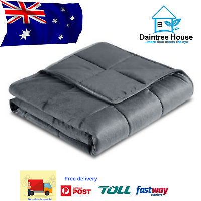 Giselle Bedding 9KG Cotton Weighted Blanket Heavy Gravity Deep Relax Adult