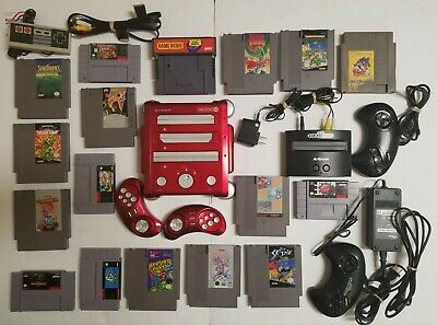 Lot of Super Nintendo NES Games Consoles Controllers Mario Turtles Donkey Kong