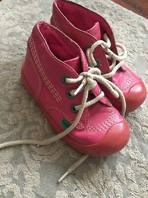 cf924b678e2ab KICKERS Kick Hi Infant Blossom Pink Boots Shoes Toddler Child Size 8 EUR 25  Girl