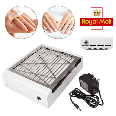 Nail Vacuum Cleaner Manicure 2 IN 1 Dust Fans Collector Suction Fingernail 40W
