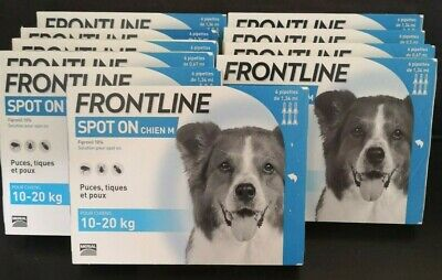 FRONTLINE Spot On Flea Tick Lice Treatment Medium Dog 10-20kg 6 Pipettes AVM-GSL