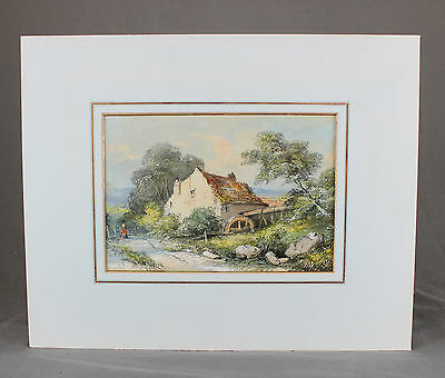 Welsh Mill English Watercolour Painting 19th Century