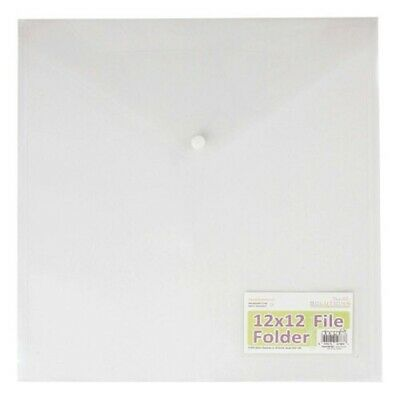 Papermania Solutions Clear 30cm x 30cm File Folder - Empty Papers Storage Buy