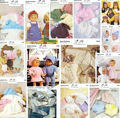 Peter Gregory knitting patterns- Baby, Doll, Child -4 ply, DK, Aran- 25+ titles