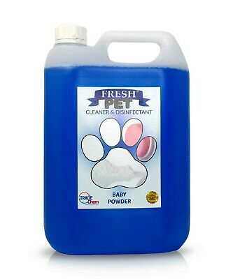 Fresh Pet Disinfectant Cleaner Deodoriser - Animal Safe 5L - Baby Powder