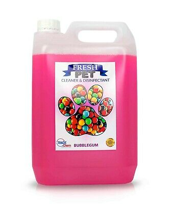 Fresh Pet Disinfectant Cleaner Deodoriser - Animal Safe 5L - Bubble Gum