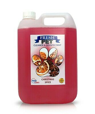Fresh Pet Disinfectant Cleaner Deodoriser - Animal Safe 5L - Christmas Spice