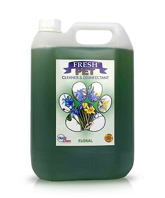 Fresh Pet Disinfectant Cleaner Deodoriser - Animal Safe 5L - Floral