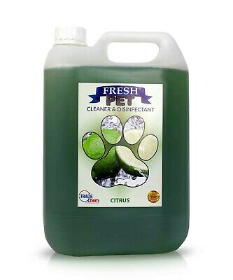 Fresh Pet Disinfectant Cleaner Deodoriser - Animal Safe 5L - Citrus