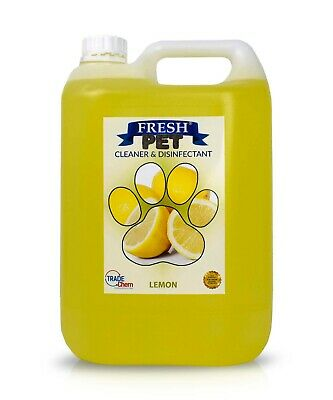 Fresh Pet Disinfectant Cleaner Deodoriser - Animal Safe 5L - Lemon